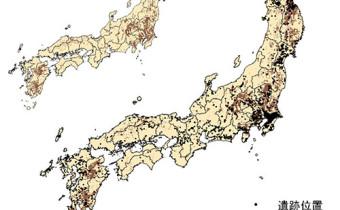 黒ボク土と遺跡の分布